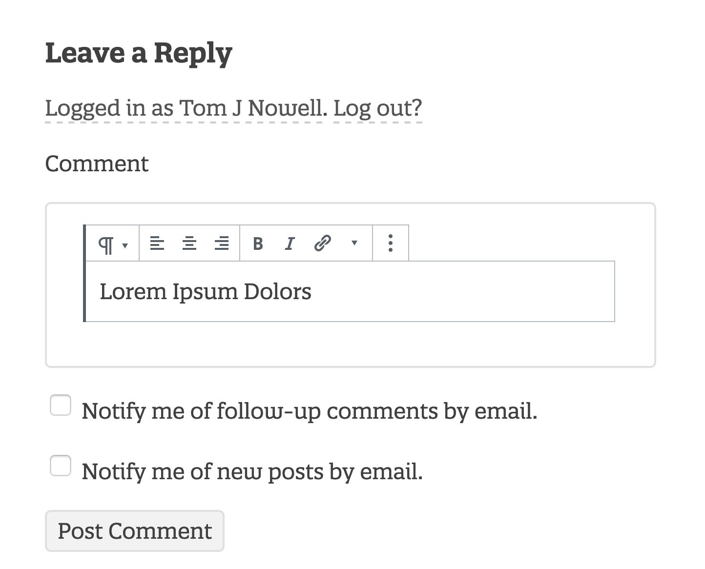 Gutenberg Comments Tom J Nowell